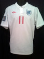 Gerrard 2010 England Home Jersey Size XL With FIFA World Cup Patch