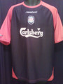 Liverpool Vintage Black And Red Adult Large Away Jersey