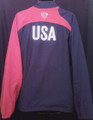USA VINTAGE NAVY & RED  ADULT XL WARM UP JACKET COAT