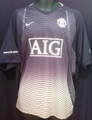 Manchester United Rare Classic Black & Gold Pregame Warm Up Adult XL Jersey