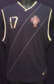 Ronaldo Portugal Classic Black & Gold Sleeveless Adult XL Training Jersey