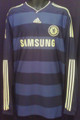 Chelsea Very Rare 2009 2010 Navy And Slate Hoops Away Jersey Size XXL - Sharp Shirt!