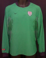USA Womens 2004 2005 Dark Kelly Green Adult L Size 12-14 Long Sleeve Goalkeeper Jersey