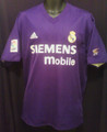 Real Madrid Very Rare Purple and White Reversible Adult L Jersey - Sharp!