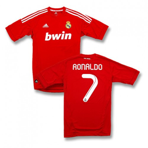 3730ad677 Ronaldo Real Madrid 2011 2012 Rare Red Size Adult XL Third Jersey. Price    80.00. Image 1