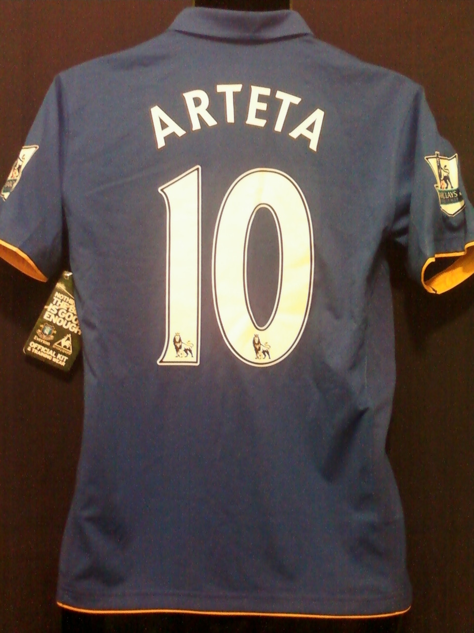 2b0a0bc72 ARTETA EVERTON 2011 2012 HOME ROYAL JERSEY WITH FELT EPL PATCHES ...