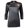 Hope Solo Style 2013 2014 USA Women's National Team Charcoal Three Quarter Sleeve Goalkeeper Jerseys