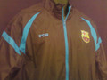 BARCELONA BLACK WARM UP JACKET COAT SIZE ADULT LARGE