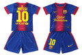 Messi Barcelona 2012 2013 Youth Small Toddler Size 22 Maroon to Navy Fade Home Jersey and Shorts Set with Jersey TV3 Patch