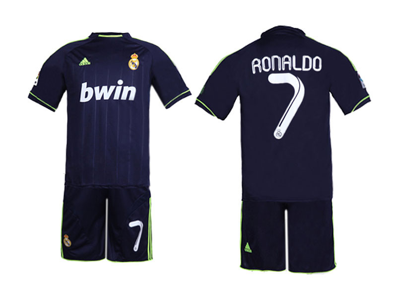 bd2246662 RONALDO REAL MADRID 2011 2012 NAVY AND FLUORESCENT AWAY TODDLER SET
