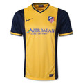 Atletico Madrid 2013 2014 Yellow and Black Away Size Adult M Player Edition Jersey
