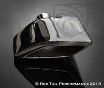 "Exhaust Muffler Tip  Custom Rhombus Extra Rolled Edge Left Side  2.25"" Inlet / ID, 9X3.25"" Outlet / OD, Red Tail Performance #RTP-028L"