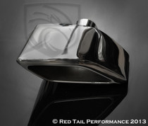 "Exhaust Muffler Tip  Custom Rhombus Extra Rolled Edge Right Side  2.25"" Inlet / ID, 9X3.25"" Outlet / OD, Red Tail Performance #RTP-028R"