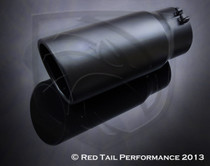 "Exhaust Muffler Tip  Round Forward Slash Cut Rolled Edge  5"" Inlet / ID, 6"" Outlet / OD, Red Tail Performance #RTP-BQ003"