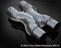 "Exhaust Muffler Tip  X Pipe  2.25"" Inlet / ID, 2.25"" Outlet / OD #RTP-X001"