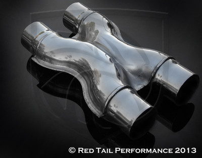 """Exhaust X Pipe  2.5"""" Inlet / ID, 2.5"""" Outlet / OD, Red Tail Performance #RTP-X002"""