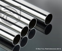 "Polished Stainless Steel Round Tube with Mirror Finish - 2.25"" OD, 18 Gauge, 1 Foot Tube #RTP-SP007P-1"