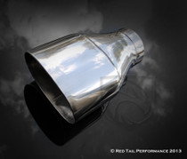 "Exhaust Muffler Tip  Oval Forward Straight Slash Cut Double Wall  3"" Inlet / ID, 5.5X3.5"" Outlet / OD #RTP-068"
