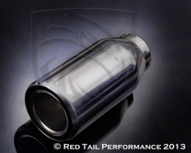 "Red Tail Performance Top Quality Exhaust Muffler Tip Round Inter-cooled Double Wall Rolled Edge 2"" Inlet / ID, 3"""