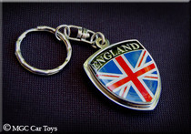 Amazing UK Great Britain Metal Crest Flag Key Chain Chrome Auto Car Jewelry