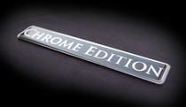 "Chrome Edition Real Metal Emblem .75X5"" Audi BMW Bentley Cadillac Chrysler 300"