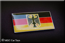 "Amazing German Germany Real Car Metal Decal Badge Fender Grille Emblem Auto Flag 2 "" Wide X 1"" Tall"