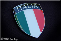 "Amazing Italia Italy Real Car Auto Metal Automotive Fender / Grille Emblem Auto 2"" Wide By 2.5"" Tall"