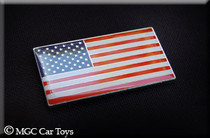 "Amazing USA America Real Car Metal Decal Badge Fender Grille Emblem Auto Flag 2 "" Wide X 1"" Tall"