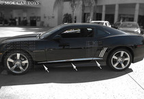 2010-12 Chevy Camaro 6Pc Stainless Steel  Chrome Angled Body Side Accent Trim