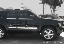 2007-2009 Chevy Tahoe Body Side Molding 4Pc Stainless Steel Chrome Finish  4''