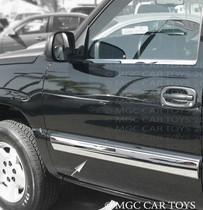 2003-06 Chevy Silverado 1500 Regular Cab Body Side Molding Stainless Steel Trim 2Pc