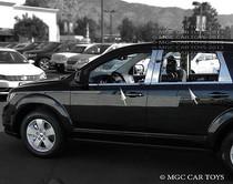 2009-Up Dodge Journey Stainless Steel Mirror Finish Window Sill Trim 4-Piece Set