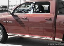 "2009-2013 Dodge Ram 1500 Quad Cab 6.4' Short Bed Rocker Panel Trim 3 1/8""-16Pc"
