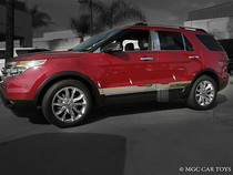 """2011-2012 Ford Explorer Rocker Panel Body Side Molding Stainless Steel  4""""  6Pc"""