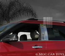 2011-2012 Ford Explorer Chrome Stainless Steel Window Sill Trim-4 Piece Set