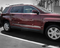 2010-Up  GMC Terrain Stainless Steel Body Side Moldings Accent Trim 1 1/2'' 6Pc