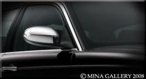 Jaguar 95-97 XJ6 XJR Chrome Mirror Cover Finisher Set