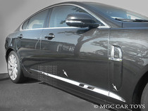 2009-2011 Jaguar XF Stainless Steel Mirror Finish Rocker Panels Accent Trim 1 1/4''