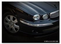 Jaguar X-Type Headlight Chrome Trim Finisher Full Set