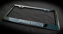 """ Chrome Edition "" Black License Plate Frame Land Rover Cadillac Mercedes BMW"