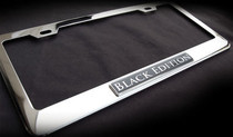 Black Edition Chrome License Plate Frame Mercedes Porsche CLK