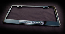 Midnight Edition Black License Plate Frame Bentley Aston Martin Maserati BMW