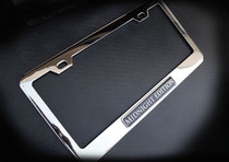 Midnight Edition Chrome License Plate Frame Bentley Aston Martin Maserati BMW