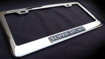 Supersport Super Sport Chrome License Plate Frame Bentley Jaguar Maserati BMW