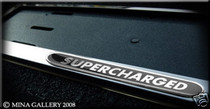 Supercharged Chrome European Number Plate Surround