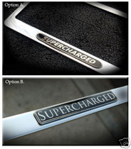 Jaguar Supercharged Chrome License Plate Frame
