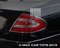 CLK Mercedes  2003-2009 Prestige Collection Sport Taillight Chrome Trim Upgrade