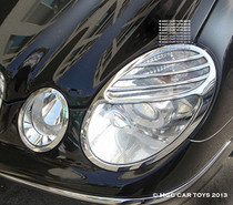 Mercedes E-Class E500 2003-2008 MGC Collection Headlight Chrome Trim Upgrad