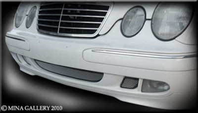 Mercedes CLK 97-03 Lower Mesh Grille Grill 3 Piece Kit
