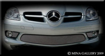 Mercedes SLK Amg 3 Part Lower Mesh Grille Grill 05-08
